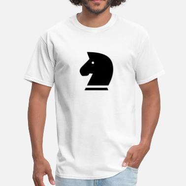 Horse Knight Chess Piece Horse Head Silhouette (Chess Piece) - Men's T-Shirt
