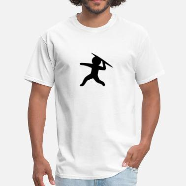 Stickfigure Kids Javelin Throw (Stickman / Stickfigure) - Men's T-Shirt