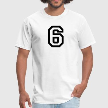 number - 6 - six - Men's T-Shirt