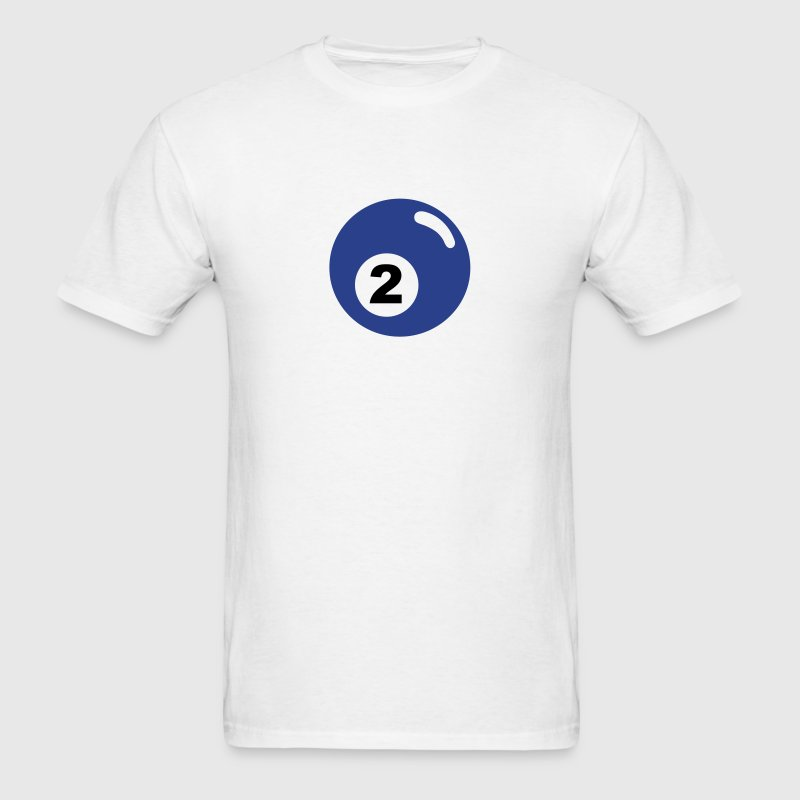 Billiard ball No 2 - blue - V2 - Men's T-Shirt