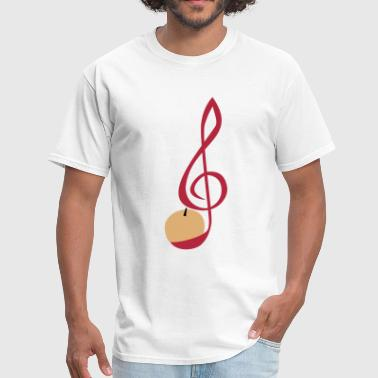Treble Clef Apple - Men's T-Shirt