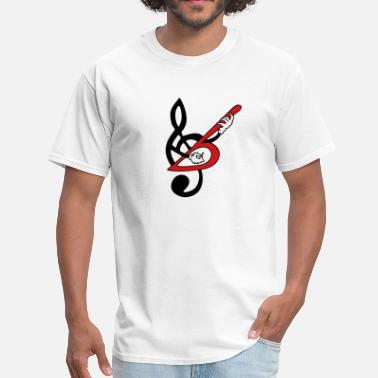 Treble Treble Clef Guitar Bass 2c - Men's T-Shirt