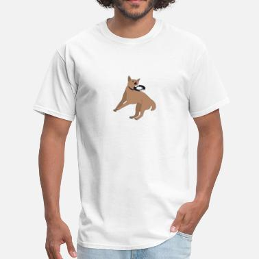 Dog Frisbee Dog Vinyl DJ - Men's T-Shirt