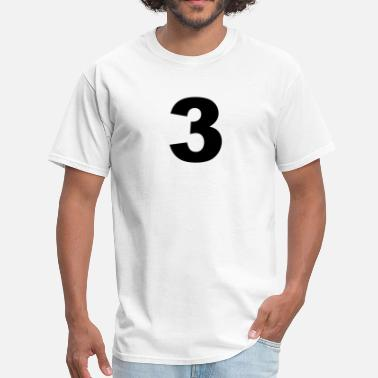 Number 3 number - 3 - three - Men's T-Shirt