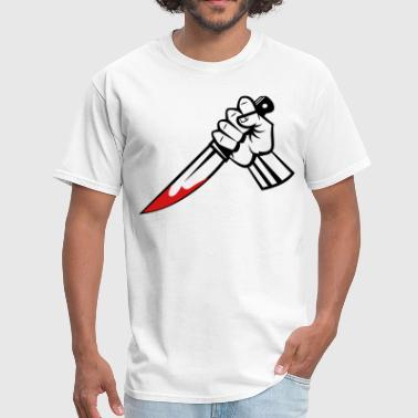 hand with knife vector - Men's T-Shirt