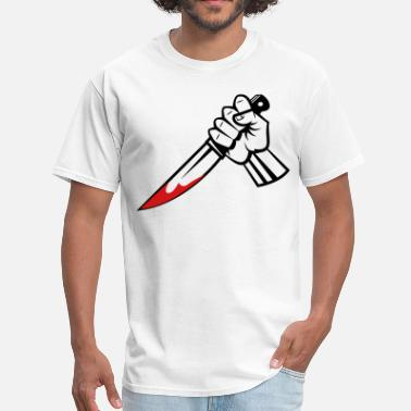 Knife Hands hand with knife vector - Men's T-Shirt