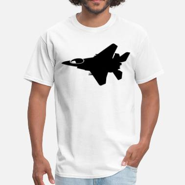 Fly Army Army Jet Flying Silhouette - Men's T-Shirt
