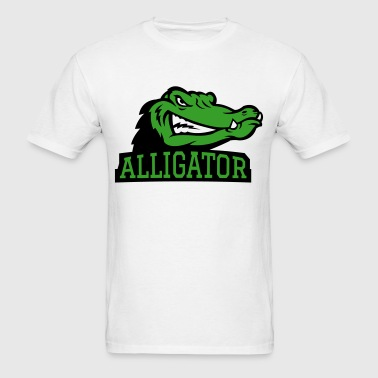 Angry Alligator Logo - Men's T-Shirt