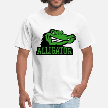 Crocodile Images Angry Alligator Logo - Men's T-Shirt