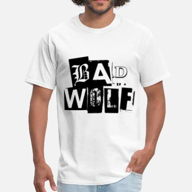 Doctor Who And Rose Doctor Who T-Shirts: Bad Wolf Typography Tee - Men's T-Shirt