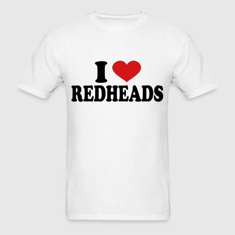 I Love redheads - Men's T-Shirt