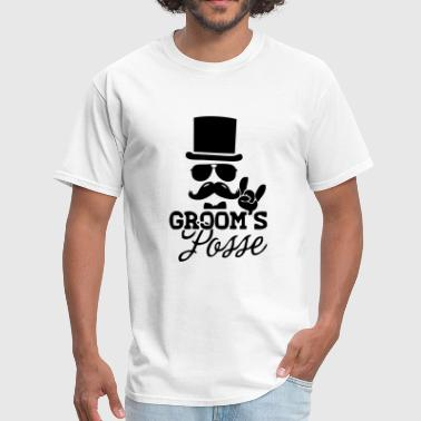 Groom's Posse - Men's T-Shirt