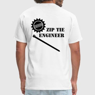 Engineering Tie Zip Tie Engineer - Men's T-Shirt