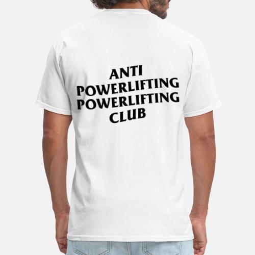 bf0c636a3eb1 anti social social club powerlifting club white Men s T-Shirt ...