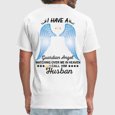 My Husband Is My Guardian Angel - Men's T-Shirt
