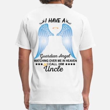 Fishing With My Uncle My Uncle Is My Guardian Angel - Men's T-Shirt