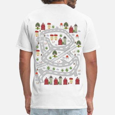 Car Mat french houses - Men's T-Shirt