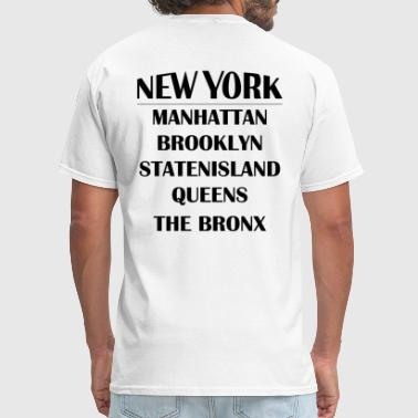 Boroughs of New York City - Men's T-Shirt