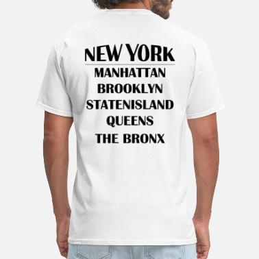 Borough Manhattan Boroughs of New York City - Men's T-Shirt