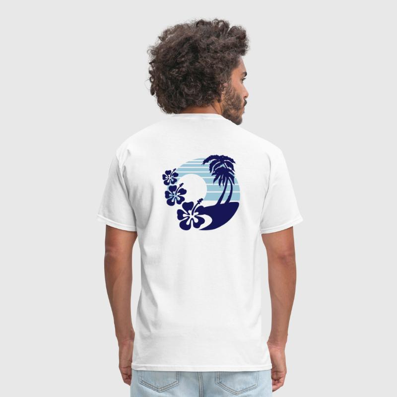 Flowers on the Surf - Men's T-Shirt
