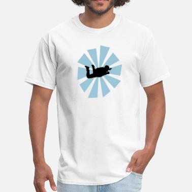 Sun Rays Skydiver With Sun Rays - Men's T-Shirt
