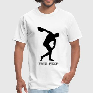 discus thrower, track and field - Men's T-Shirt