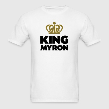 King myron name thing crown - Men's T-Shirt