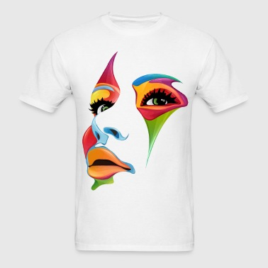 Beautiful female face paint art - Men's T-Shirt