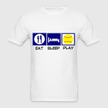 Eat, Sleep, Softball - Men's T-Shirt
