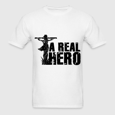 Christian Gift Jesus, A Real Hero - Men's T-Shirt