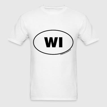 WI Wisconsin - Men's T-Shirt