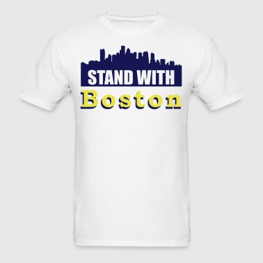 Stand With Boston - Men's T-Shirt