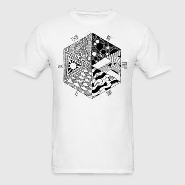 psychedelic hexagon - Men's T-Shirt