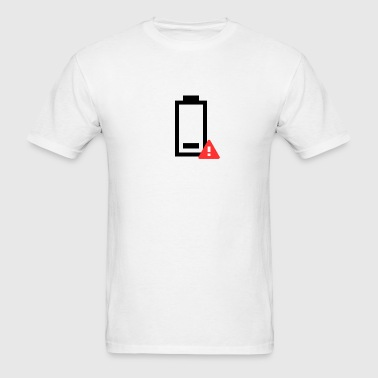 Low Battery Icon - Men's T-Shirt