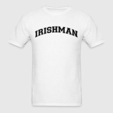 irishman college style curved logo - Men's T-Shirt