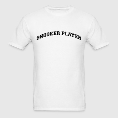 snooker player college style curved logo - Men's T-Shirt