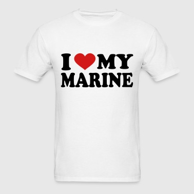 I Love My marine - Men's T-Shirt