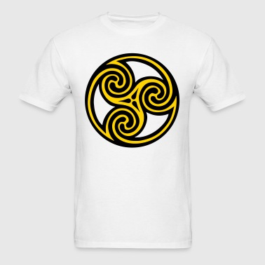 Spiral Celtic Viking Rune - Men's T-Shirt