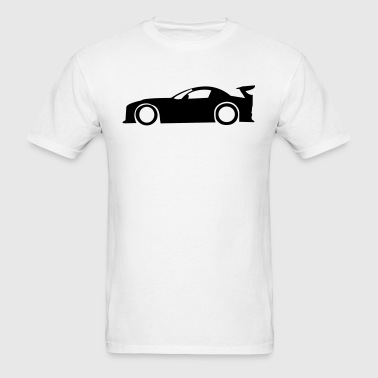 Race Car Silhouette - Men's T-Shirt