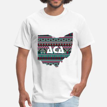 Arch City Apparel Hipster Native Ohio - Men's T-Shirt