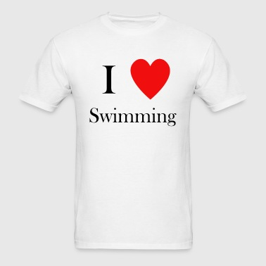 i love swimming heart - Men's T-Shirt