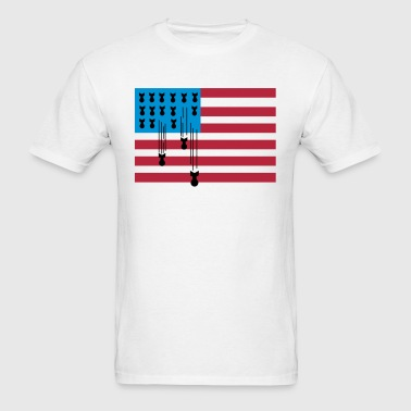 USA Flag Bombs - Men's T-Shirt