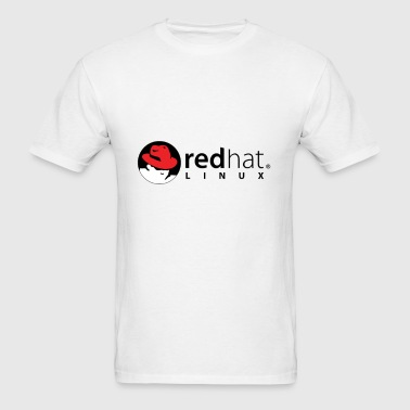 Red Hat Linux White Red Black - Men's T-Shirt