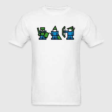 Knight, Wizard, Archer - 8Bit RPG Characters - Men's T-Shirt