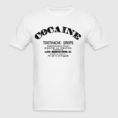 Cocaine - Toothache Drops  - Men's T-Shirt