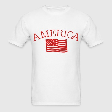 America Flag - Men's T-Shirt