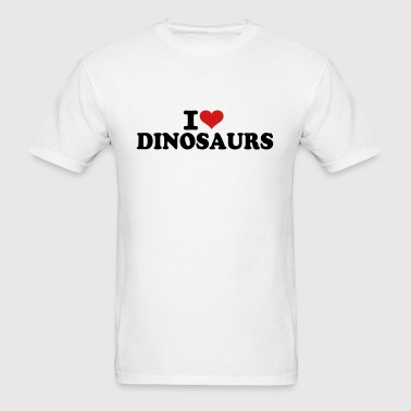 I love Dinosaurs - Men's T-Shirt