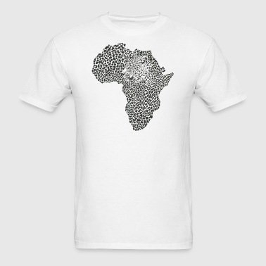 Africa Map Tiger - Men's T-Shirt