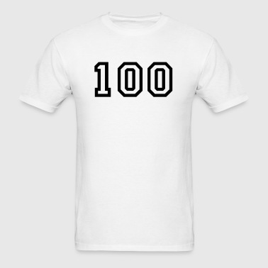 Number - 100 - One Hundred - Men's T-Shirt
