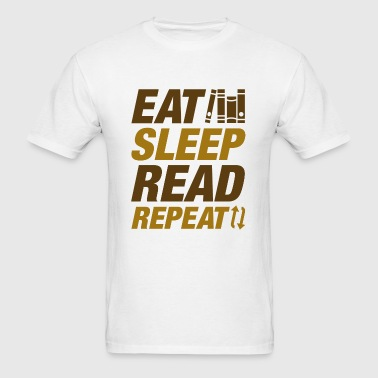 Eat Sleep Read Repeat - Men's T-Shirt